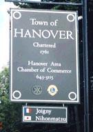 ハノーバー町境界標識の写真