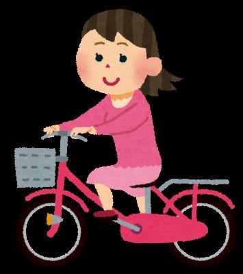 自転車に乗る人イラスト