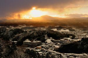 「冬」部門優秀賞 厳冬の朝の目覚め