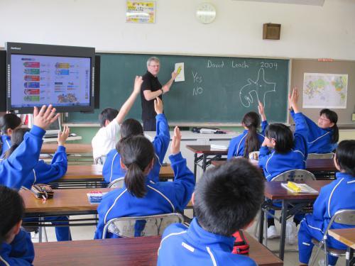 外国人英語講師による授業風景2