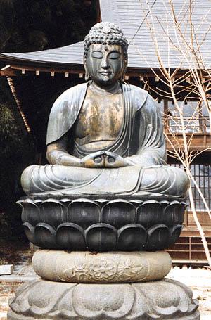 銅像阿弥陀如来坐像