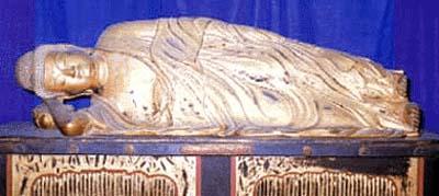 木造釈迦涅槃像の正面