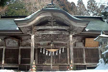 木幡山隠津島神社拝殿・本殿