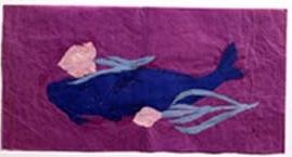 青い魚と花