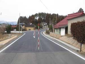 施工後の写真(平成20年度市道陣場・油王田線道路改良工事)
