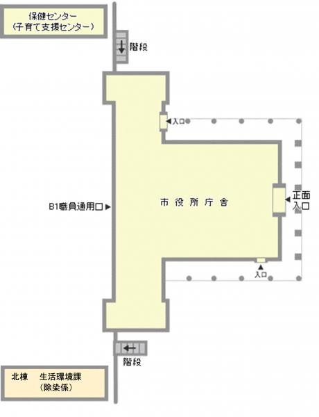 付帯施設のフロアマップ