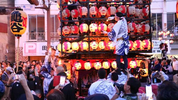2019二本松の提灯祭り1日目(提灯火入れ亀谷)