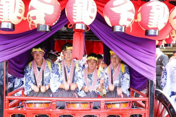 2019二本松の提灯祭り1日目(亀谷小若の囃子)