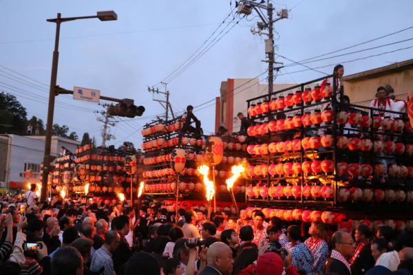 2019二本松の提灯祭り1日目(御神火が太鼓台へ)