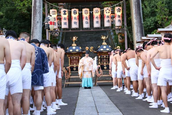 2019二本松の提灯祭り2日目(御神輿渡御出発前)