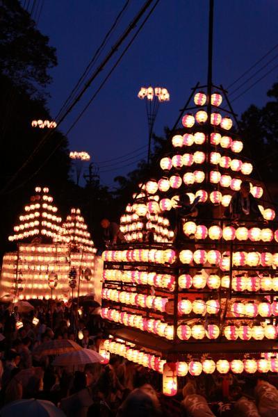 2019二本松の提灯祭り3日目四町出発式(提灯点灯)