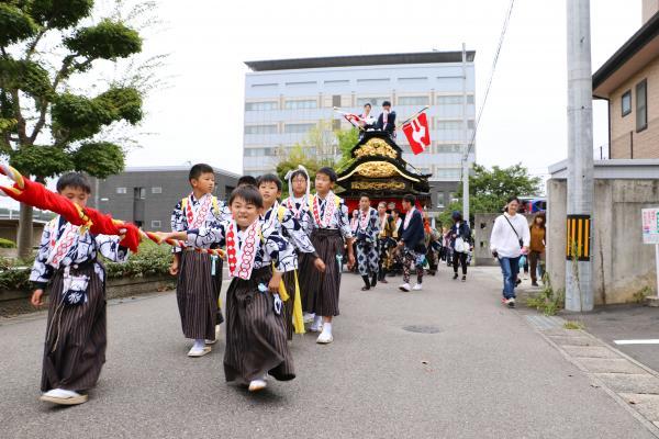 2019二本松の提灯祭り3日目(松岡太鼓台・市役所前)