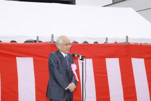 二本松駅前広場モニュメント「ほんとうの空」除幕式での橋本先生あいさつ