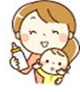 ママと赤ちゃんイラスト