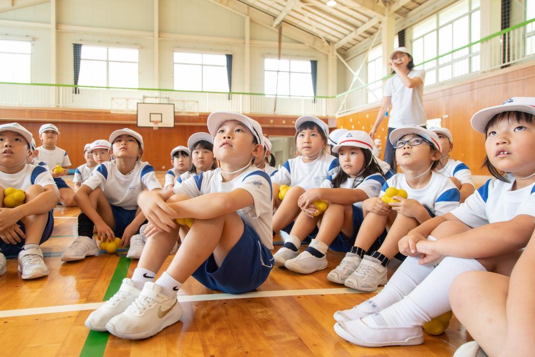 塩沢小学校児童